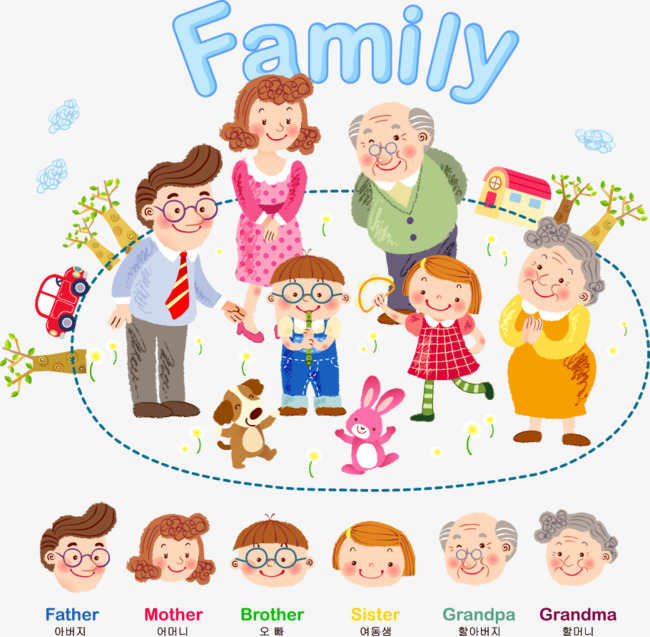 Vector cartoon family, Extended Family, Family, Cartoon Family PNG and  Vector - PNG Extended Family