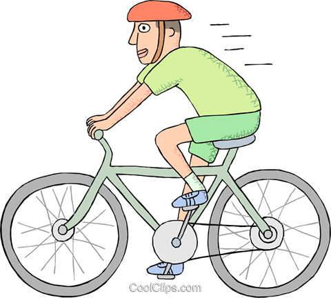 Man riding a bicycle Royalty Free Vector Clip Art illustration - PNG Fahren