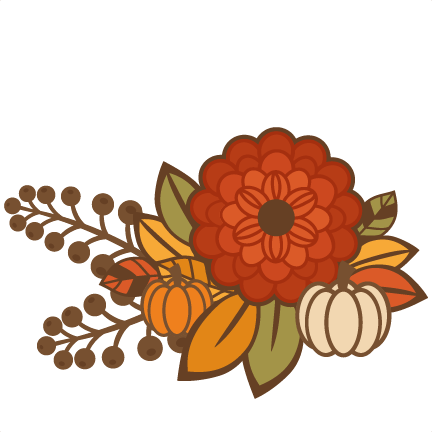 Fall Flower Group Title SVG c
