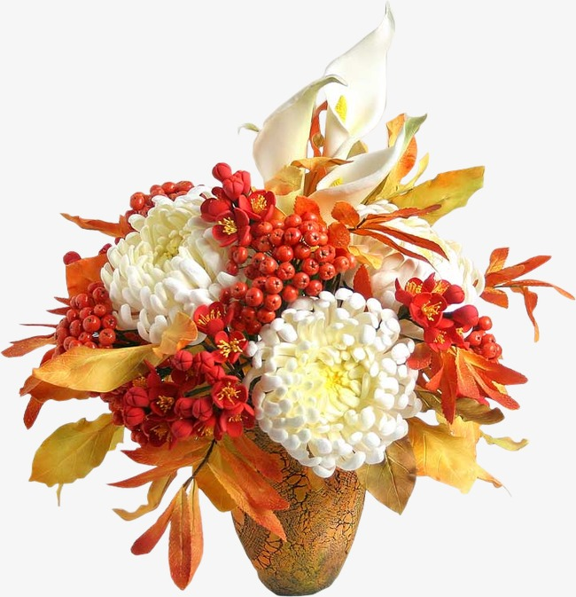 PNG Fall Flowers - 142900