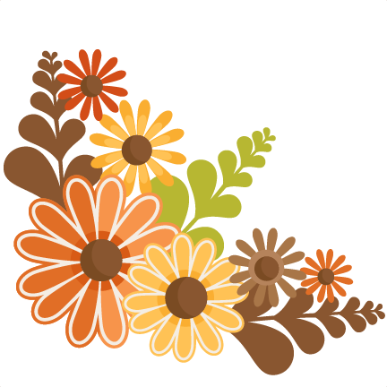 Fall Flowers SVG cutting files for scrapbooking fall svg cut files for  cricut cute cut files free svg cuts - PNG Fall Flowers