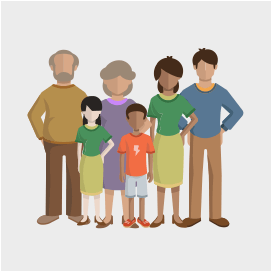 Family Sizes 6 - PNG Family Of 6