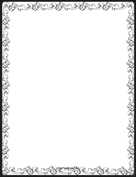 Fancy Decoration Border page border - PNG Fancy Borders
