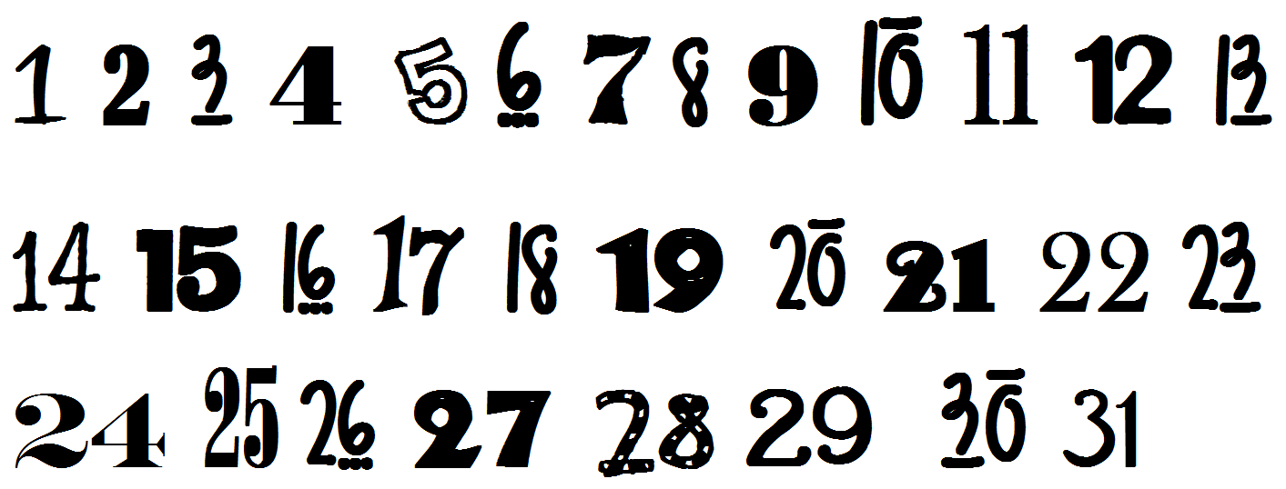 PNG Fancy Numbers - 132341