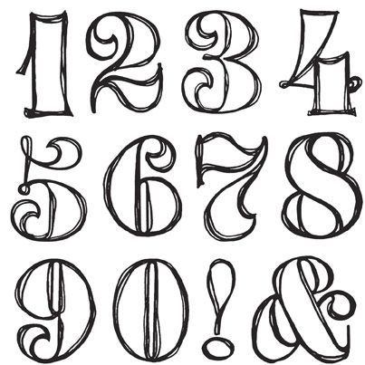 Fancy numbers clipart image