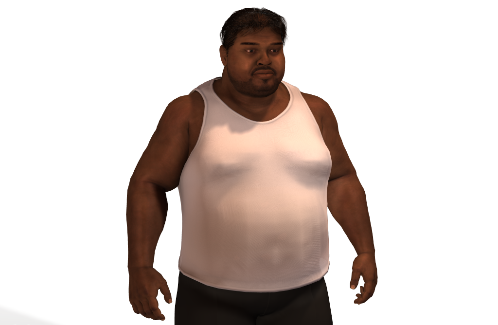 . PlusPng.com Fat Man in Line.png PlusPng.com  - PNG Fat Man