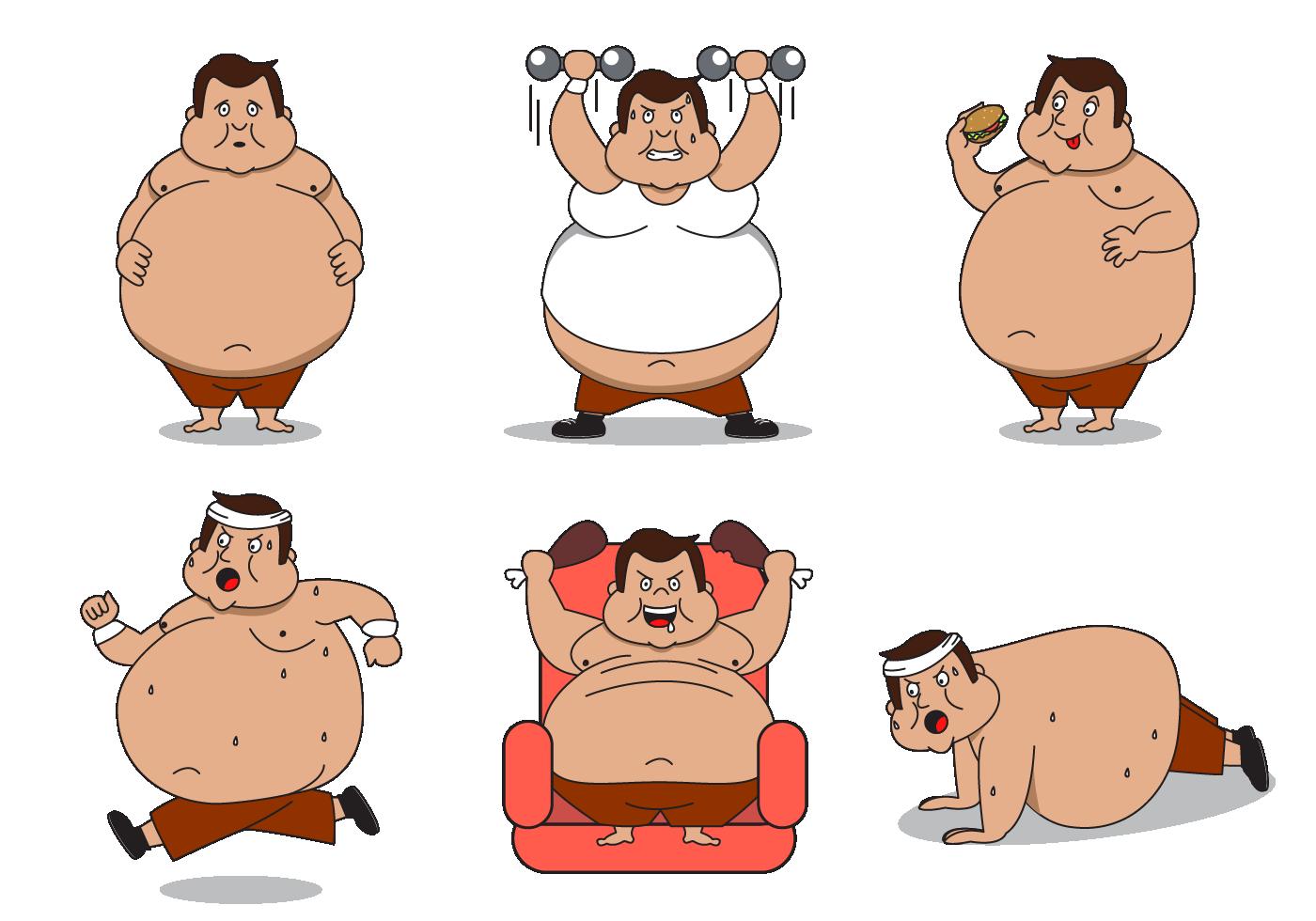 free-fat-guy-character-vector.png 1,400×980 pixels - PNG Fat Man