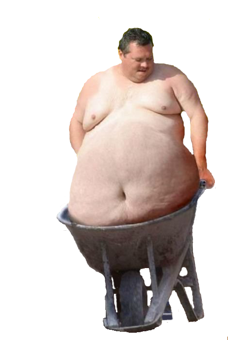 png wheelbarrow-Fat Carrier by mccormickld PlusPng.com  - PNG Fat Man