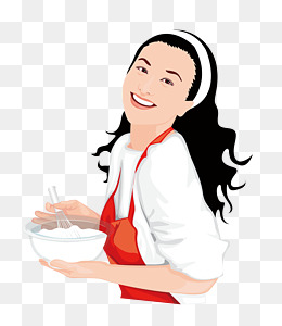 Cook a woman, Cook, Female, Hand Painted PNG and PSD - PNG Female Chef