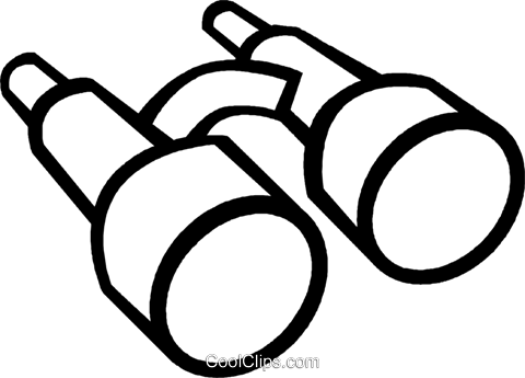 Fernglas Vektor Clipart Bild - PNG Fernglas