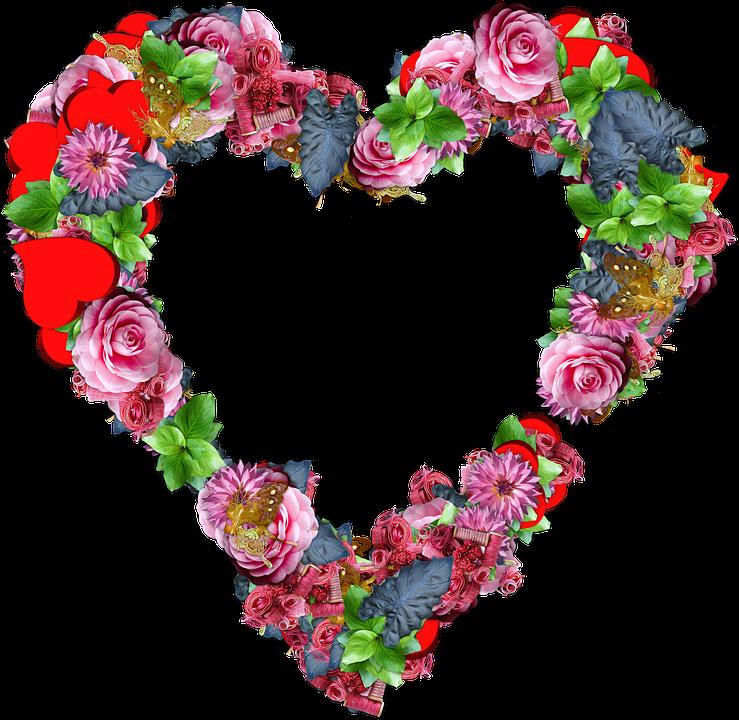 cuore fiori png amore san valentino colori - PNG Fiori Gratis