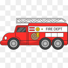 Fire rescue fire engine, Cartoon, Fire Safety, Fire Rescue PNG and Vector - PNG Fire Truck