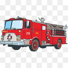 Fire truck png vector element, Fire Truck Vector, Car, Red PNG and Vector - PNG Fire Truck