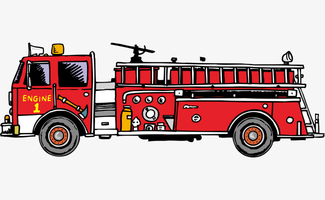 Fire truck png vector element, Fire Truck Vector, Red, Extinguishing PNG  and Vector - PNG Fire Truck