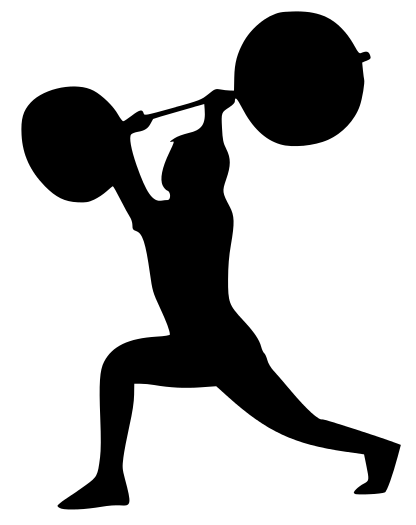 fitness split jerk - /recreation/fitness /fitness_silhouettes/fitness_split_jerk.png.html - PNG Fitness