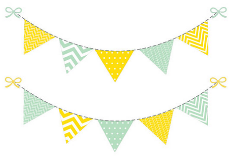 cute flag banner clipart - PNG Flag Banner