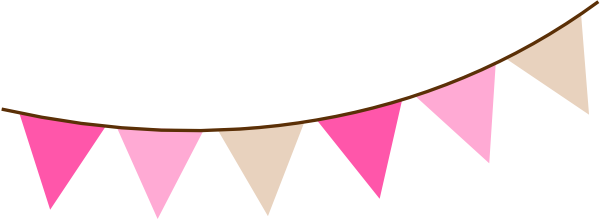 Pink flag banner clipart plus
