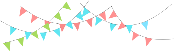 triangle flag banner clipart