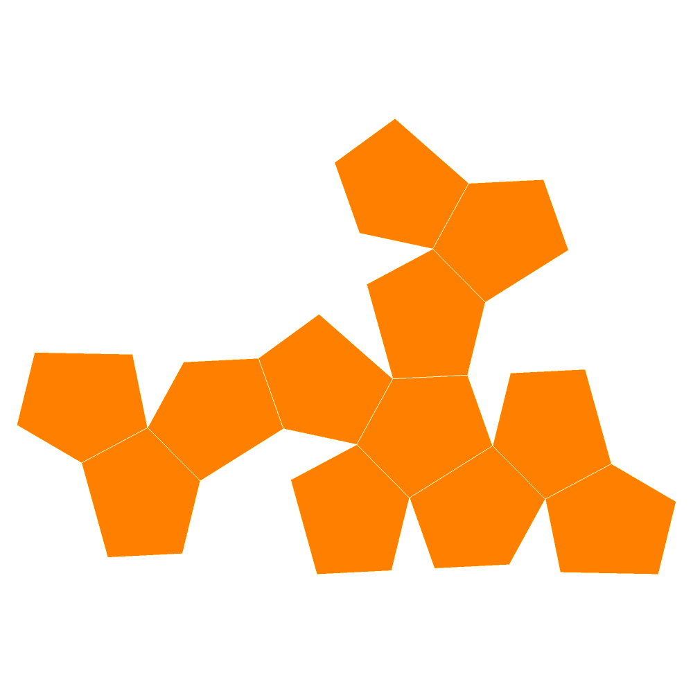File:Pyritohedron flat.png - PNG Flat