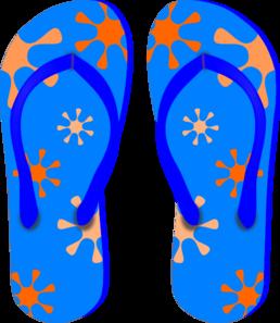 Blue Flip Flops Clip Art - PNG Flip Flop