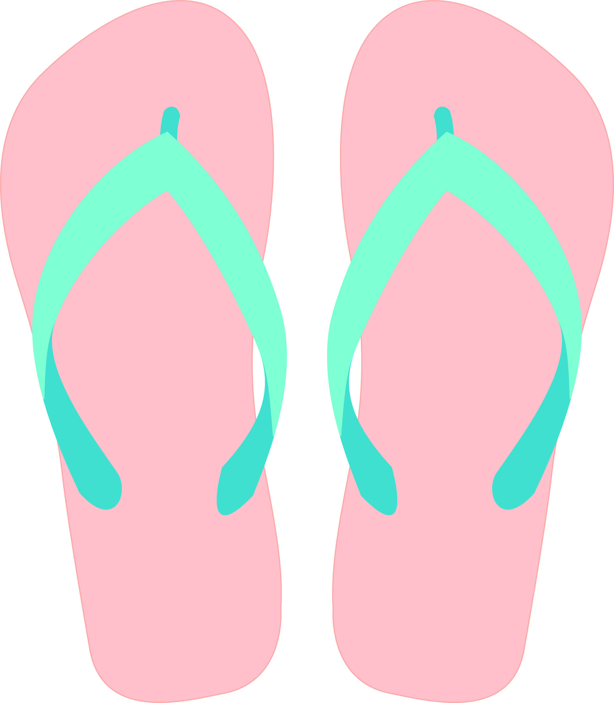 Flip flop pedicure clipart
