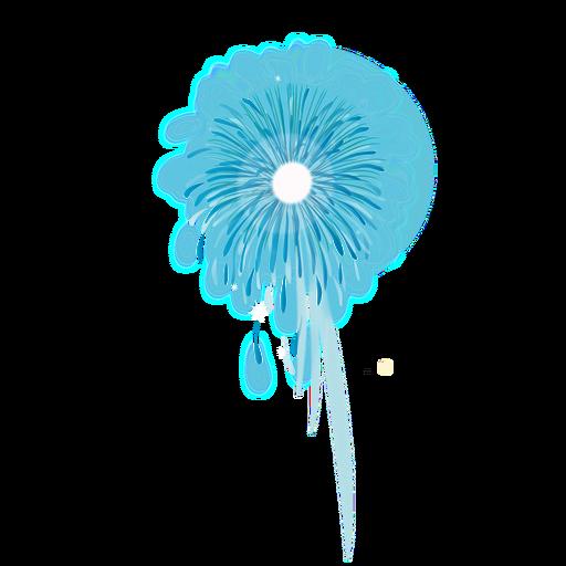 fogo de artifício brilhante azul png - PNG Fogos De Artificio