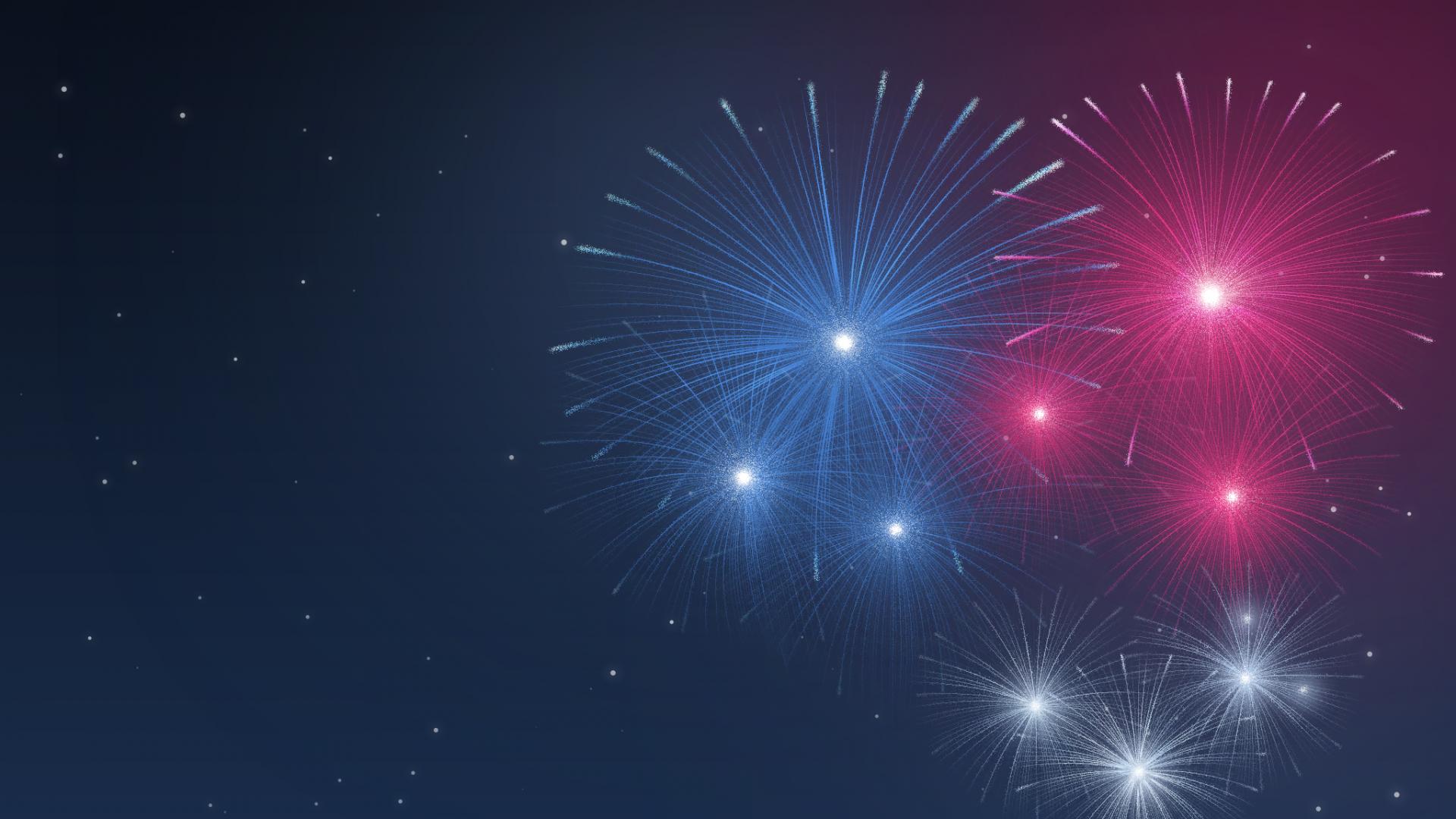 Fogos de artifício coloridos - 1920x1080 - PNG Fogos De Artificio