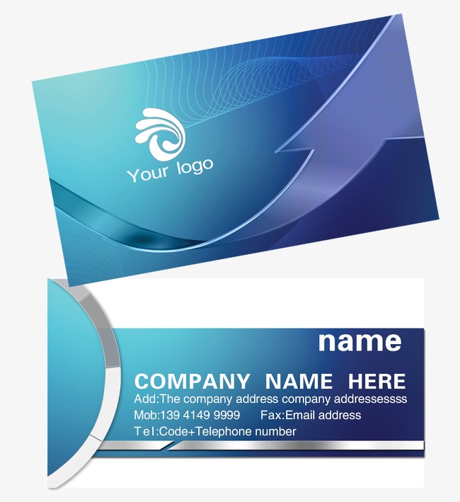 blue business cards, Business Card Design, Business Card, Business Card  Template PNG and - PNG For Business Use
