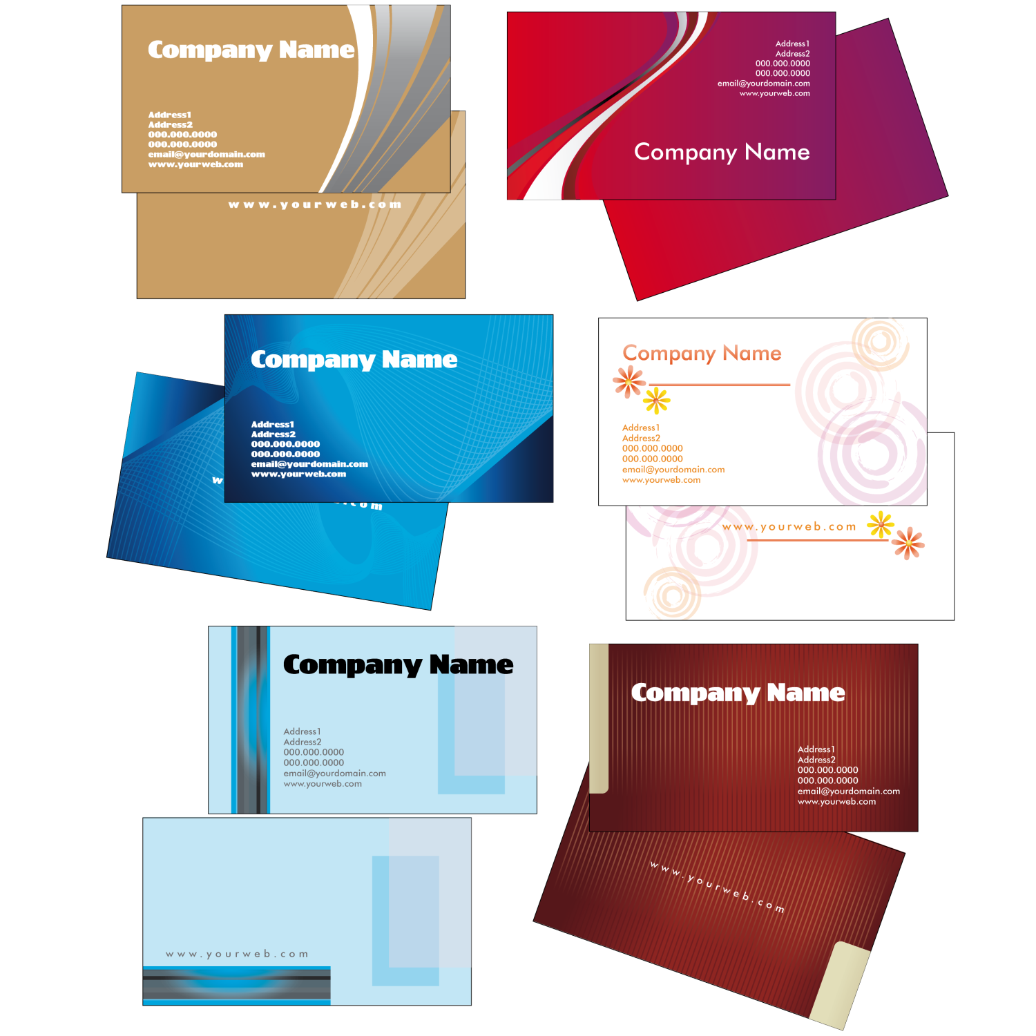 Creative Business Card Templates u2013 2 - PNG For Business Use