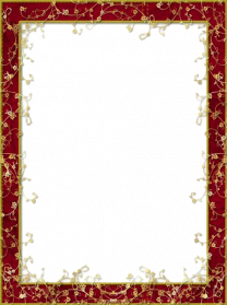 Red Flower Frame PNG Image - PNG Frames For Pictures