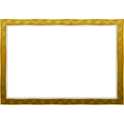 Simple Gold Frame Landscape - PNG Frames For Pictures