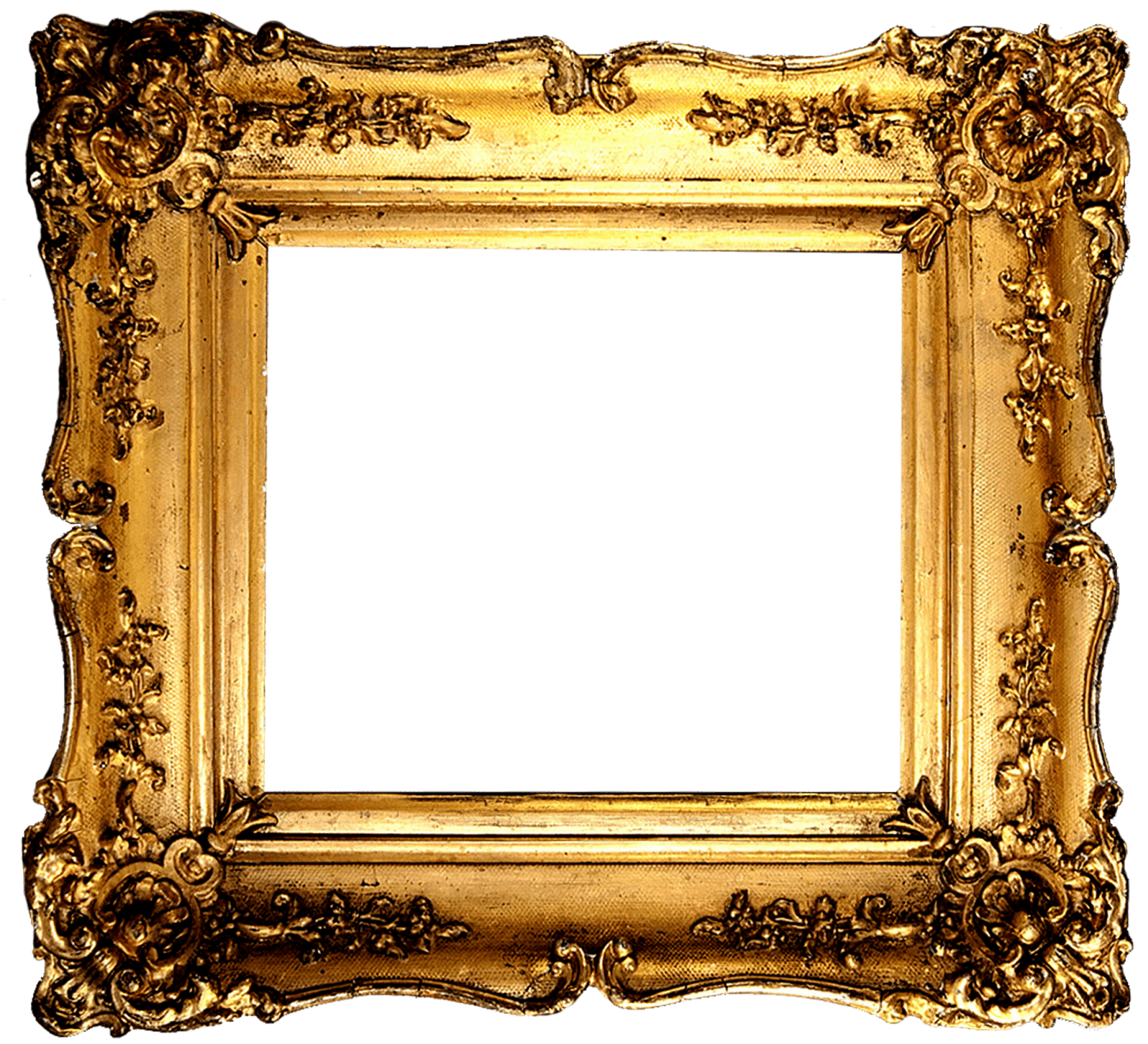 Vintage Gold Frame - PNG Frames For Pictures