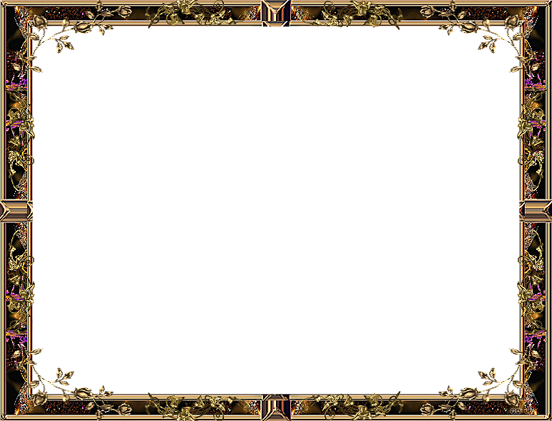 Simple Gold Frame Landscape