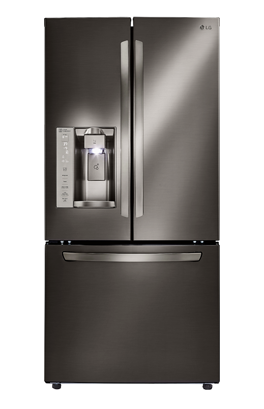 Image for LG Bottom Freezer and French Doors Refrigerator - LFXS24623BD  from Brault u0026 Martineau - PNG Fridge