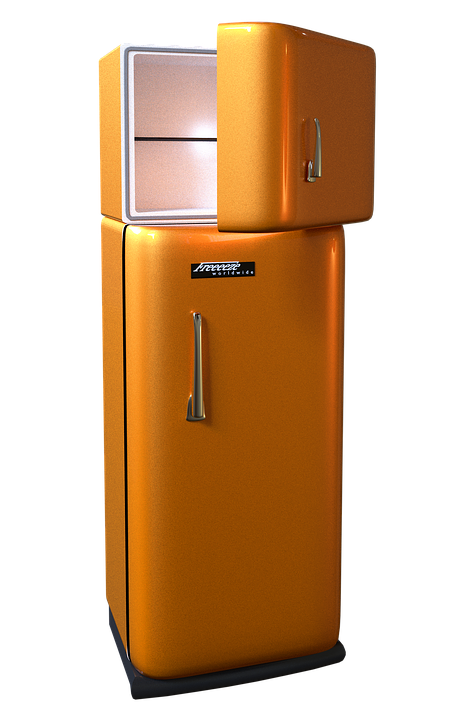 Refrigerator, Freezer, Fridge-Freezer, Retro, Seventies - PNG Fridge