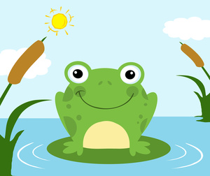 Frog lily pad clipart - Frog On Lily Pad PNG HD - PNG Frog On Lily Pad