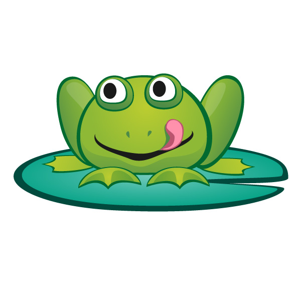 Frog u0026 Lilypad - PNG Frog On Lily Pad