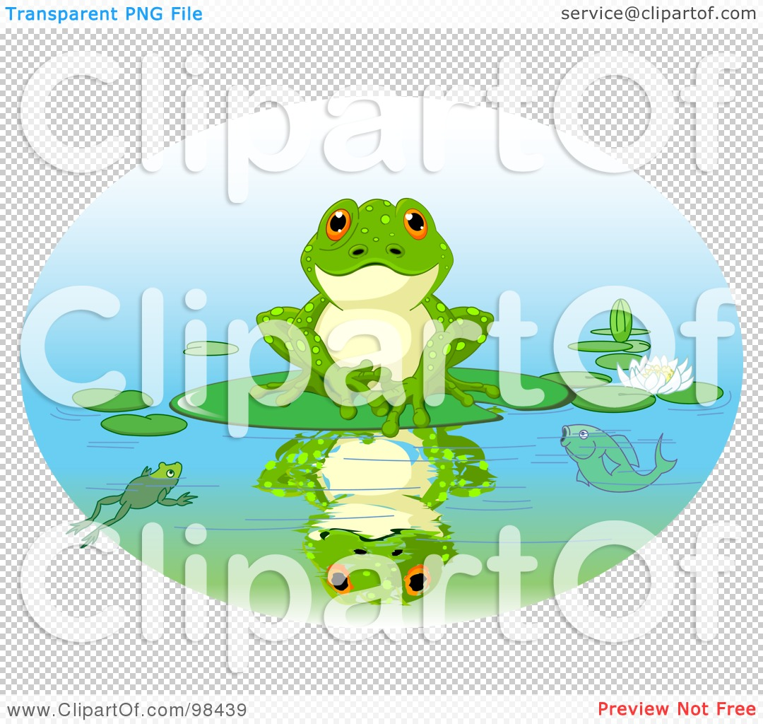 Frog On Lily Pad Tattoo Frog sitting on a lily pad - PNG Frog On Lily Pad