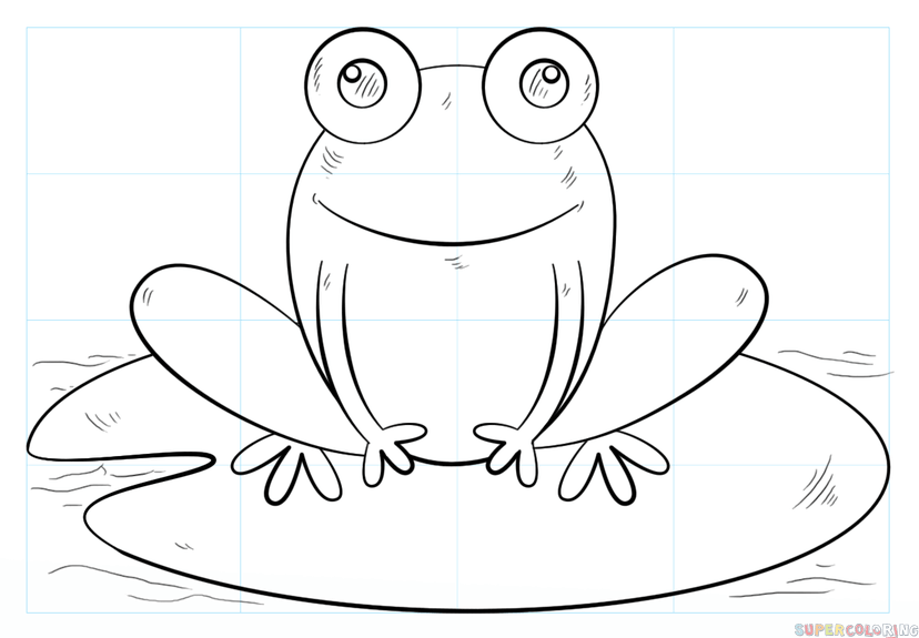 How to draw a frog on lily pad - PNG Frog On Lily Pad