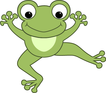 Cute hopping frog clipart free images - PNG Frogs Free