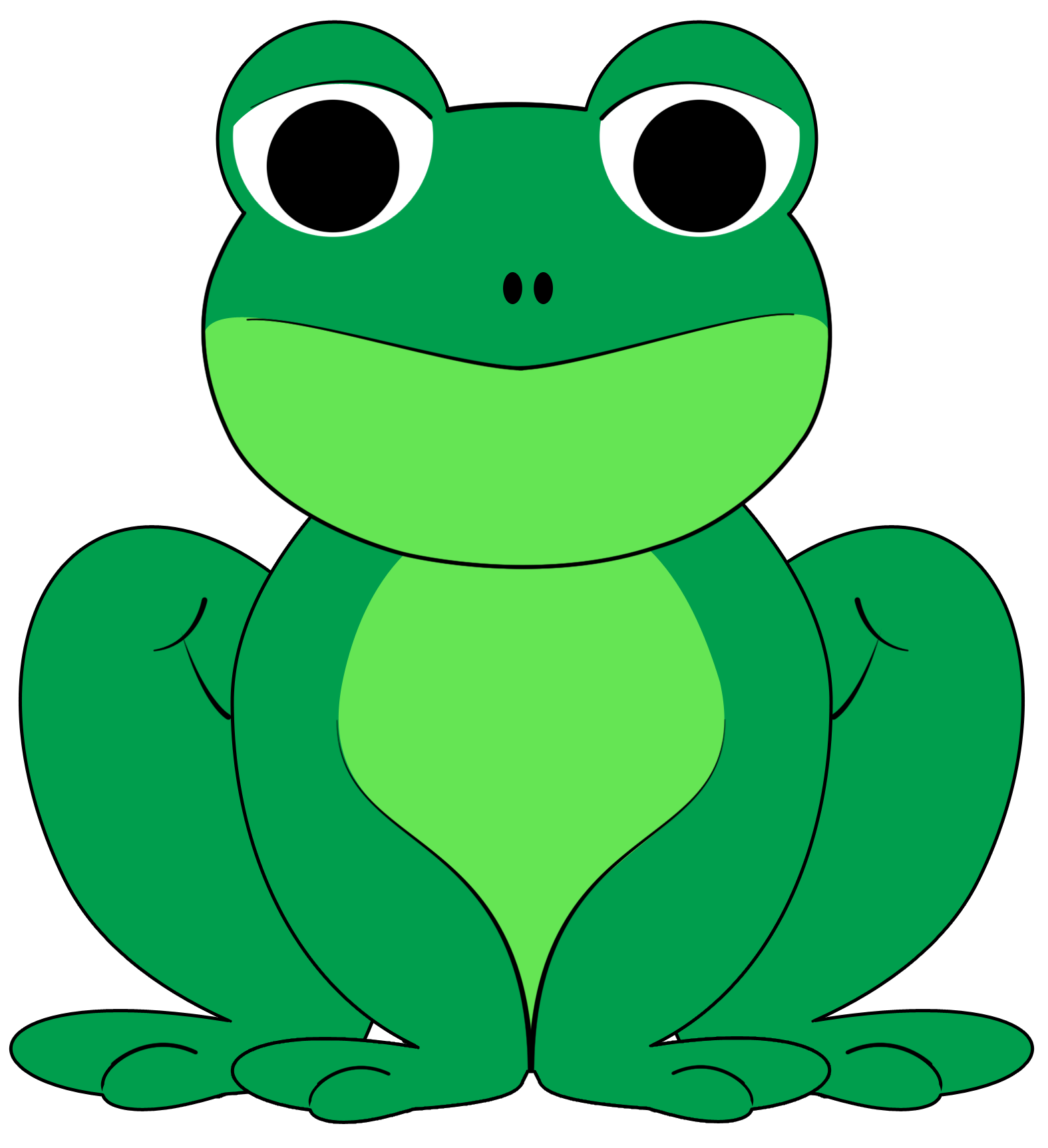 Frog clip art free vector image 5 - PNG Frogs Free