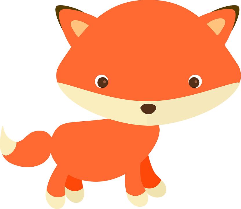 Bezaubernd, Adorable Fuchs, Alphabet Wortbilder, Tiere - PNG Fuchs Kostenlos