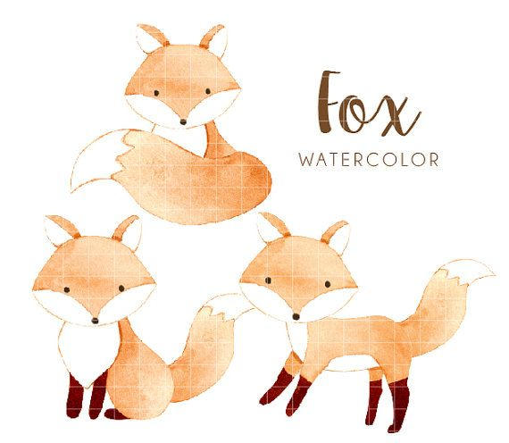 fox watercolor clipart, watercolor clipart, woodland watercolor clipart,  fox, woodland, watercolor - PNG Fuchs Kostenlos