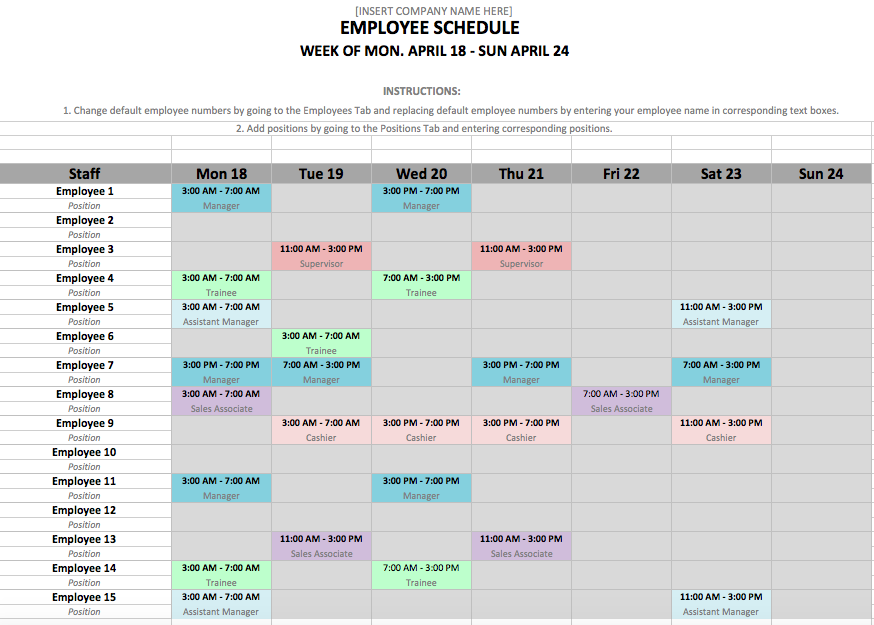 12 hour shift schedule template excel allowed gallery microsoft employee 1  steps create a - PNG Gallery Microsoft