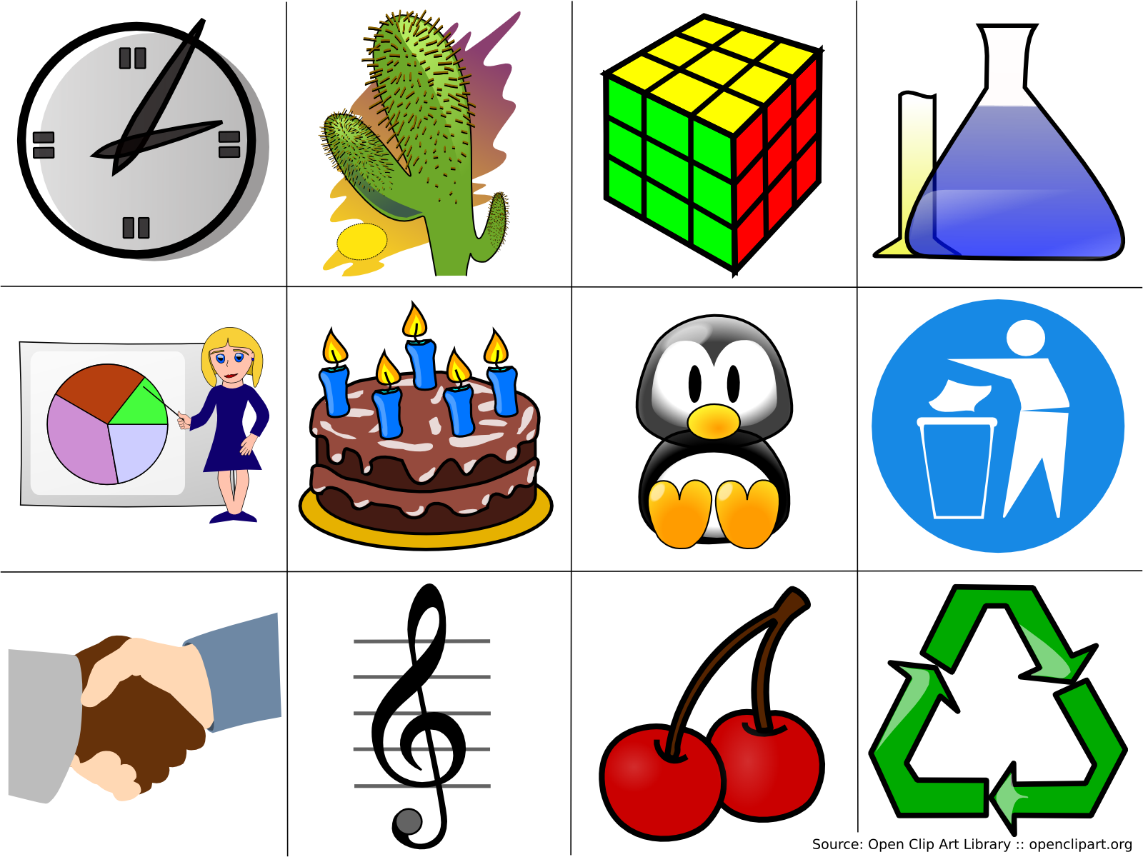 File:Cliparts (examples).png
