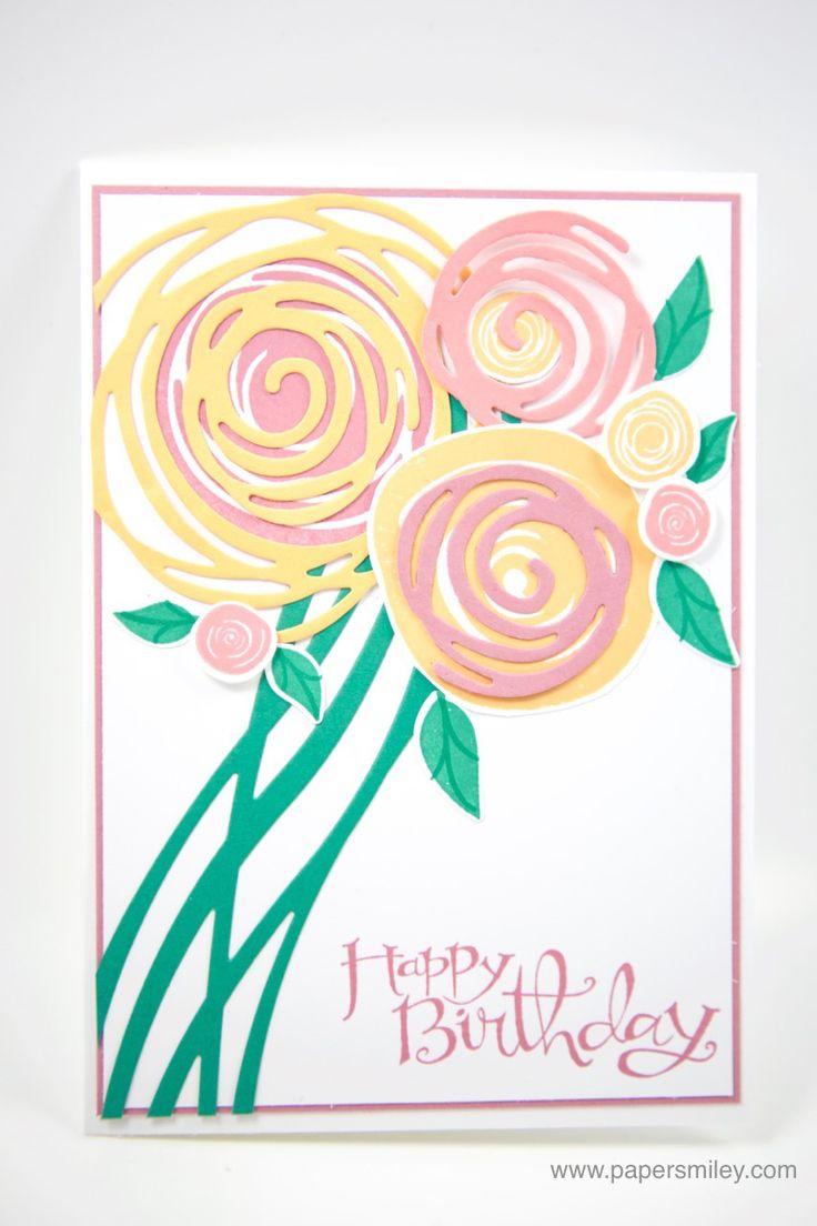 Geburtstagsstrauss mit dem Swirly Bird Stempelset und den Thinlits  Wunderbar Verwickelt von Stampinu0027 PlusPng.com  - PNG Geburtstagsstrauss