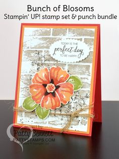 Today I am sharing another lovely card I made using the Happy Scenes stamp  set and Hearth u0026 Home Thinlits. I am really enjoying this bundle and am u2026 - PNG Geburtstagsstrauss