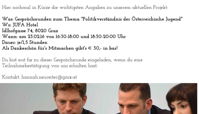 Gesprächsrunde in Graz - PNG Gesprachsrunde