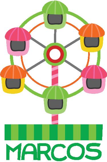 Adesivo bambini disegno giostre 1 - PNG Giostre