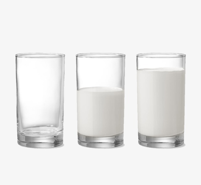 Three glasses of milk, Empty Glass, Half A Cup Of Milk, Large Glass Of Milk  Free PNG Image and Clipart - PNG Glass Of Milk
